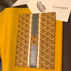 "Goyard ""Cambon"" yellow planner w/ custom Marquage"